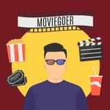 Moviegoer Royalty Free Stock Images