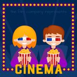 Moviegoers   illustration Royalty Free Stock Photography