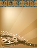 Movies. Movie themed background done in bronze Royalty Free Stock Images