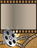 Movies. Movie themed background done in bronze Stock Photography