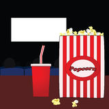 In the movies Stock Photo