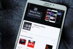 123movies app em linha Imagem de Stock