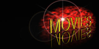 Movies banner. Movies word with text space Stock Photography