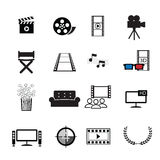 Movies cinema icons set Stock Photo