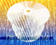 Movies digital media. Digital media disc for online movies, music, entertainment Royalty Free Stock Images