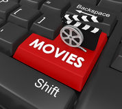 Movies Enter Button Stock Photography