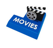 Movies Enter Button Royalty Free Stock Images
