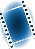 Movies film blue light background Royalty Free Stock Photos