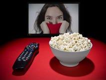 Movies at home royalty free stock photo