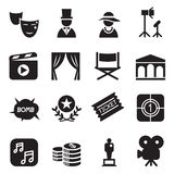 Movies icons set Vector illustration Stock Photography