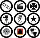 Movies illustration. Various vector movies icons and illustrations vector illustration