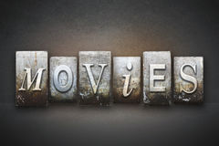 Movies Letterpress Stock Images