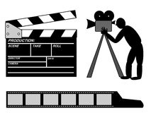 Movies production collection Royalty Free Stock Photography