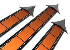 Movies rating. Films as arrows isolated on white Stock Image