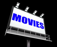 Movies Sign Means Hollywood Entertainment and Royalty Free Stock Photography