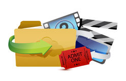 Movies storage concept illustration design Stock Images