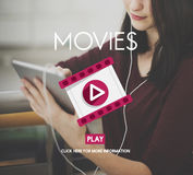 Movies Theater Cinema Audience Event Film Concept Stock Images