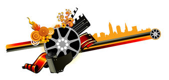 Movies vector. Abstract composition illustration Royalty Free Stock Images