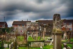 Movilla-Abteiruinen, Newtownards, Nordirland Stockbild