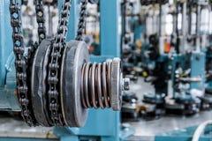Movimentação Chain, elemento de movimentação da máquina da trança foto de stock