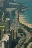 Movimentação da costa do lago vigiada Fotografia de Stock