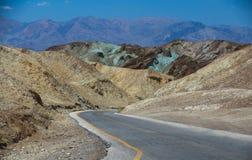 Movimentação da paleta do artista em Death Valley Foto de Stock Royalty Free