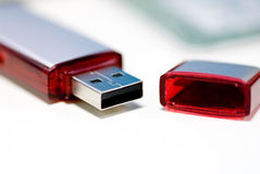 Movimentação da pena do USB Fotografia de Stock Royalty Free