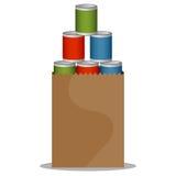 Movimentação das conservas alimentares ilustração do vetor