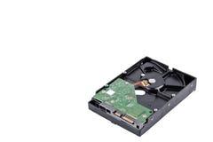 A movimentação de disco duro da placa é o armazenamento de dados para o computador de dados digitais na tecnologia branca do disc Fotos de Stock Royalty Free