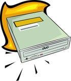 Movimentação de DVD ilustração stock