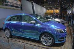Movimentação de gás natural de Mercedes Classe B Imagem de Stock