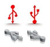 Movimentação do armazenamento do USB ilustração do vetor