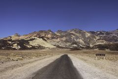 Movimentação do artista no parque nacional de Vale da Morte Califórnia Imagem de Stock