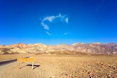 Movimentação do artista no Vale da Morte Fotos de Stock Royalty Free