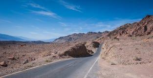 A movimentação do artista, parque nacional de Vale da Morte Foto de Stock