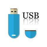 Movimentação do flash do USB Imagens de Stock