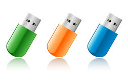 Movimentação do flash do USB Imagem de Stock