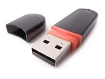Movimentação do flash do USB isolada no branco fotografia de stock