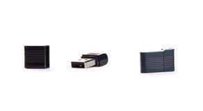Movimentação do flash do USB no fundo branco Fotos de Stock Royalty Free