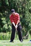 Movimentação do golfe imagem de stock