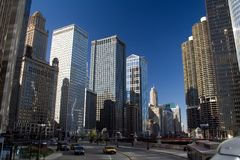 Movimentação do leste de Wacker, Chicago Imagens de Stock