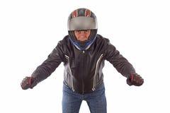 Movimentação do motociclista imagens de stock royalty free