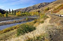 Movimentação do rio em Oregon Fotografia de Stock Royalty Free