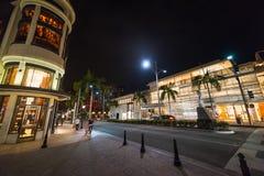 Movimentação do rodeio na noite Fotos de Stock