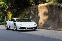 Movimentação do teste de Lamborghini Huracan LP610-4 2014 Fotografia de Stock Royalty Free