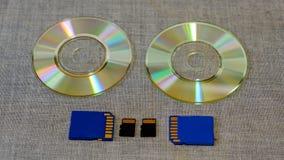 Movimentação e memória instantâneas entre o CD Fotografia de Stock Royalty Free