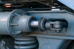Movimentação hidráulica do fim locomotivo do freio acima fotografia de stock royalty free