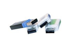 Movimentação isolada do USB Fotografia de Stock