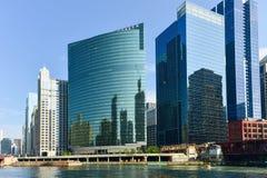 Movimentação ocidental de 333 Wacker - Chicago Fotografia de Stock Royalty Free