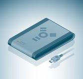 Movimentação portátil do disco rígido (firewire) Imagem de Stock
